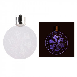 Grossiste décoration de Noël LED à suspendre en acrylique blanche et argentée