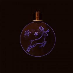 Grossiste décoration de Noël LED à suspendre en acrylique blanche et dorée