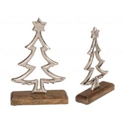 Grossiste sapin en métal avec étoile sur base en bois