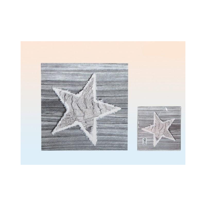 Grossiste serviette en papier à motif étoile de noël