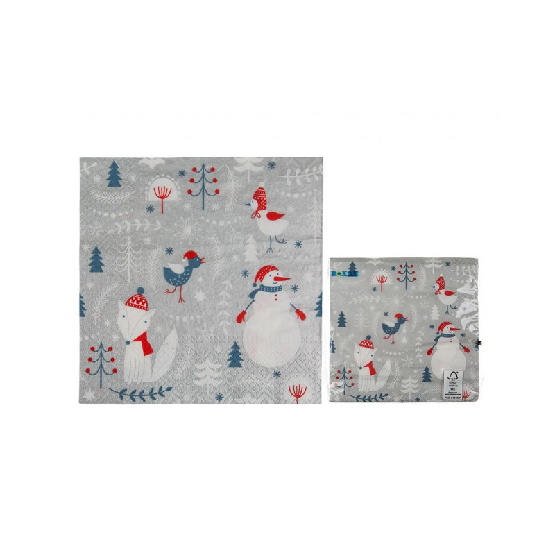 Grossiste serviette en papier à motif hivernal