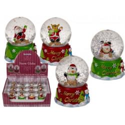 Grossiste boule à neige sur socle décors de noël