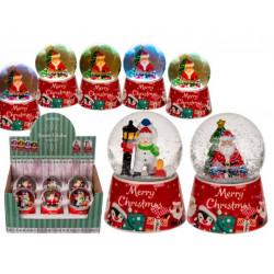Grossiste boule à neige sur socle décors de père noël et bonhomme de neige