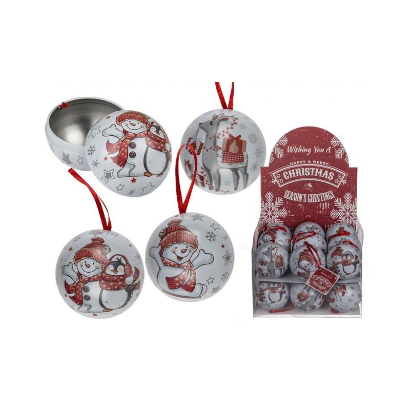 Grossiste boîte en métal forme de boule à neige à suspendre
