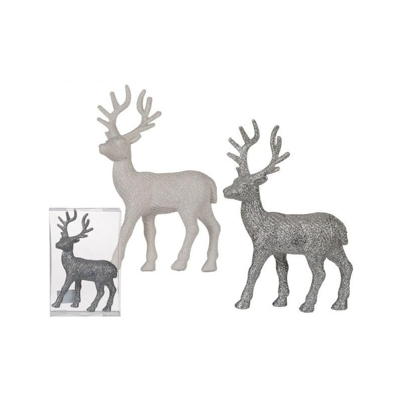 Grossiste renne en plastique brillant de 22 cm