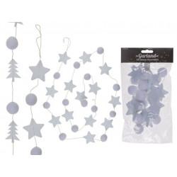 Grossiste guirlande blanche en feutre avec étoiles et arbres